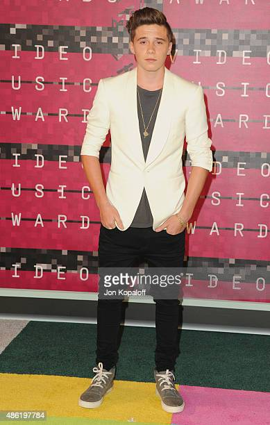 Brooklyn Beckham arrives at the 2015 MTV Video Music Awards at Microsoft Theater on August 30 2015 in Los Angeles California