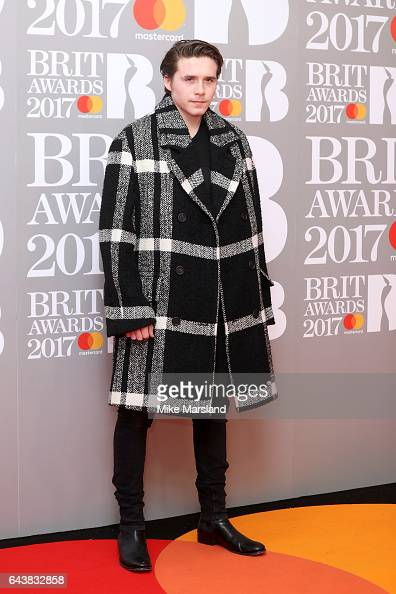 Brooklyn Beckham attends The BRIT Awards 2017 at The O2 Arena on February 22 2017 in London England