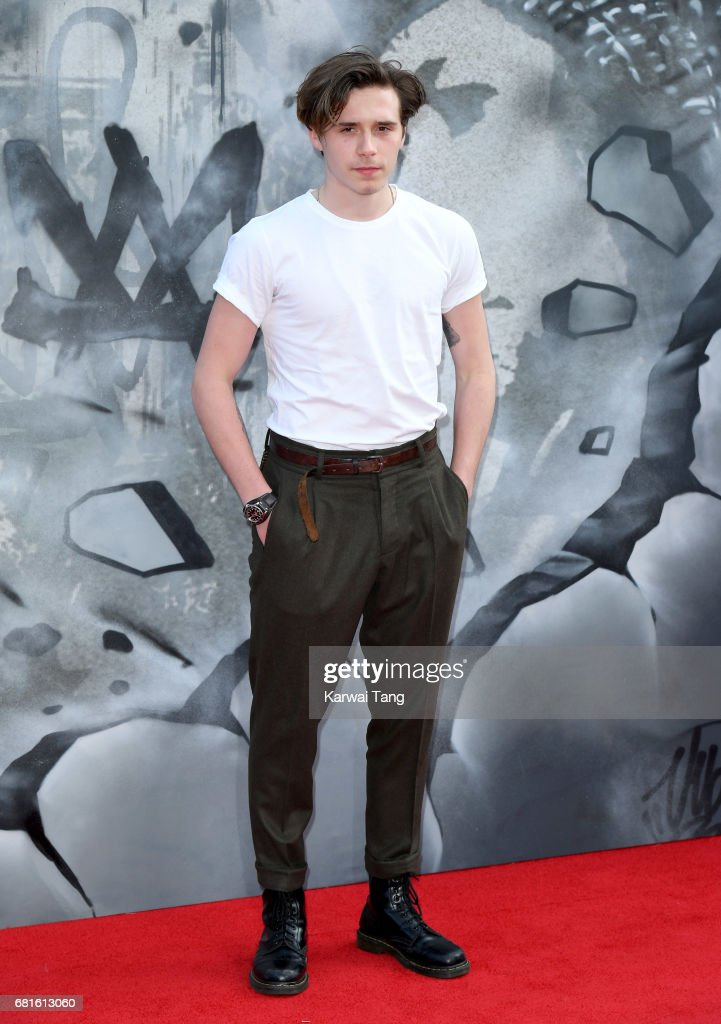 Brooklyn Beckham attends the European premiere of 'King Arthur: Legend of the Sword' at Cineworld Empire on May 10, 2017 in London, United Kingdom.