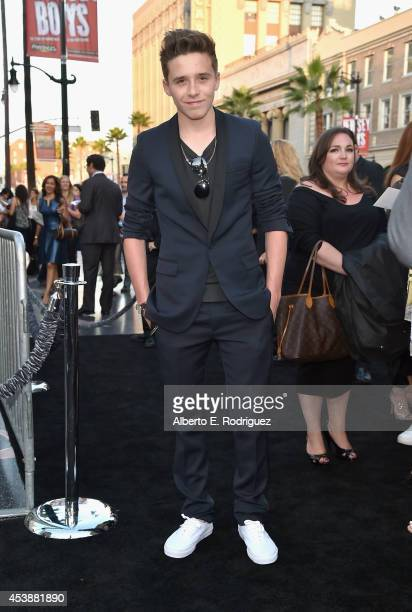 Brooklyn Beckham attends the premiere of New Line Cinema's and MetroGoldwynMayer Pictures' 'If I Stay' at TCL Chinese Theatre on August 20 2014 in...
