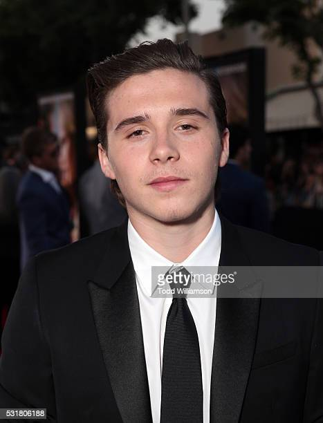 Brooklyn Beckham attends the premiere of Universal Pictures' 'Neighbors 2 Sorority Rising' at the Regency Village Theatre on May 16 2016 in Westwood...