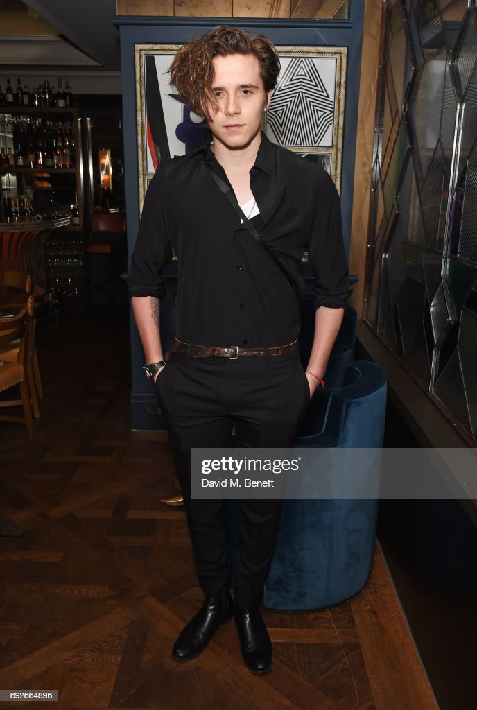 Brooklyn Beckham attends the Wonderland Summer Issue dinner hosted by Madison Beer at The Ivy Soho Brasserie on June 5, 2017 in London, England.