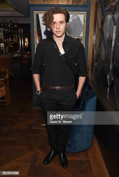 Brooklyn Beckham attends the Wonderland Summer Issue dinner hosted by Madison Beer at The Ivy Soho Brasserie on June 5 2017 in London England