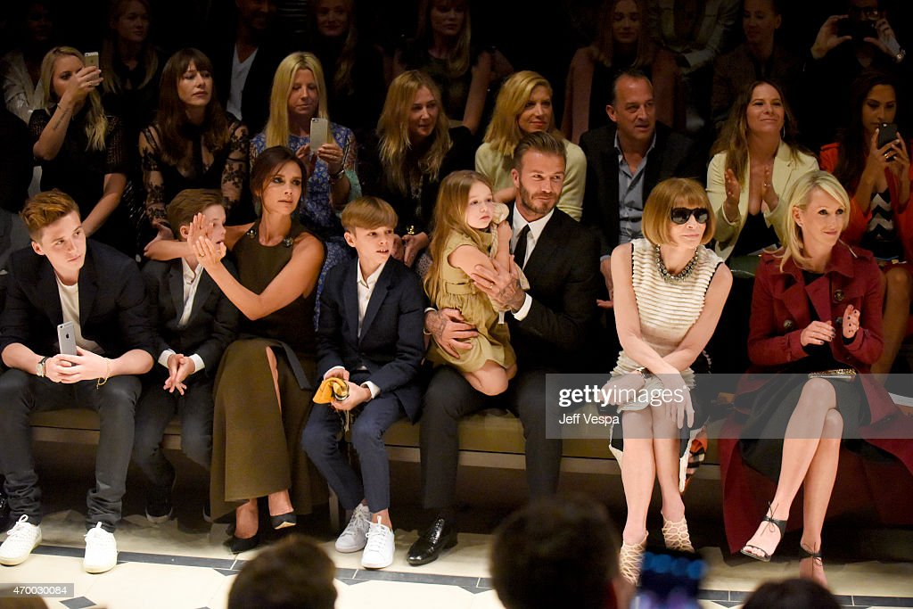 <a gi-track='captionPersonalityLinkClicked' href=/galleries/search?phrase=Brooklyn+Beckham&family=editorial&specificpeople=214623 ng-click='$event.stopPropagation()'>Brooklyn Beckham</a>, <a gi-track='captionPersonalityLinkClicked' href=/galleries/search?phrase=Cruz+Beckham&family=editorial&specificpeople=4337497 ng-click='$event.stopPropagation()'>Cruz Beckham</a>, <a gi-track='captionPersonalityLinkClicked' href=/galleries/search?phrase=Victoria+Beckham&family=editorial&specificpeople=161100 ng-click='$event.stopPropagation()'>Victoria Beckham</a>, <a gi-track='captionPersonalityLinkClicked' href=/galleries/search?phrase=Romeo+Beckham&family=editorial&specificpeople=171832 ng-click='$event.stopPropagation()'>Romeo Beckham</a>, <a gi-track='captionPersonalityLinkClicked' href=/galleries/search?phrase=Harper+Beckham&family=editorial&specificpeople=8262359 ng-click='$event.stopPropagation()'>Harper Beckham</a>, <a gi-track='captionPersonalityLinkClicked' href=/galleries/search?phrase=David+Beckham&family=editorial&specificpeople=158480 ng-click='$event.stopPropagation()'>David Beckham</a>, editor-in-chief of American Vogue <a gi-track='captionPersonalityLinkClicked' href=/galleries/search?phrase=Anna+Wintour&family=editorial&specificpeople=202210 ng-click='$event.stopPropagation()'>Anna Wintour</a> and Julia Gorden attend the Burberry 'London in Los Angeles' event at Griffith Observatory on April 16, 2015 in Los Angeles, California.