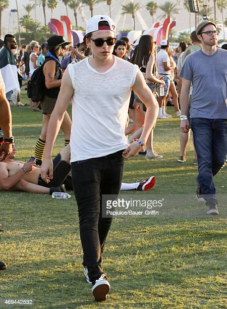 Brooklyn Beckham is seen at Coachella Valley Music and Arts Festival at The Empire Polo Club on April 11 2015 in Indio California