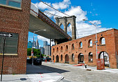 Brooklyn Bridge as seen from Water Street, DUMBO, NYC