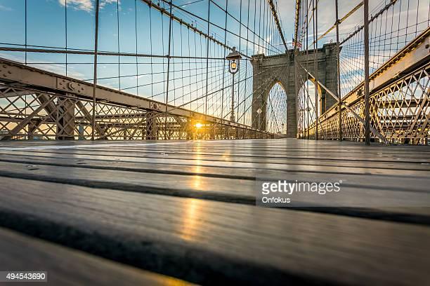 ブルックリン橋の日の出,ニューヨーク,米国