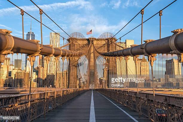 Puente de Brooklyn en Sunrise, ciudad de Nueva York, Estados Unidos