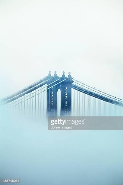 Brooklyn bridge in fog