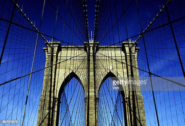 Brooklyn Bridge-Flachwinkelansicht, New York, USA