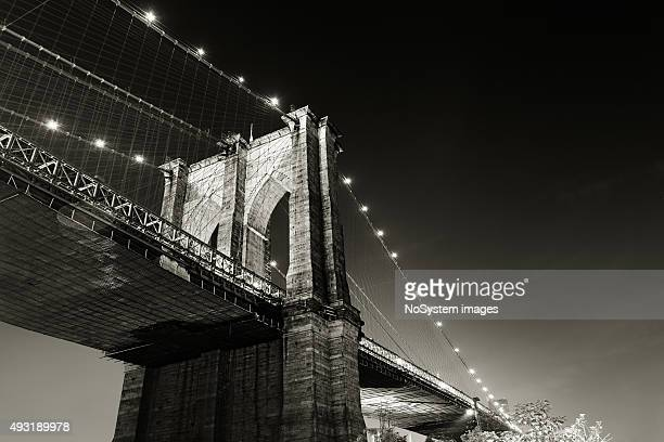 Brooklyn bridge, night shot. New york city