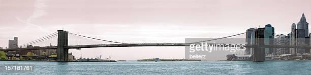Vue panoramique du pont de brooklyn