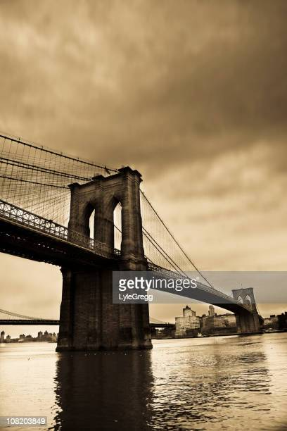 Brooklyn Bridge, Sepia Toned