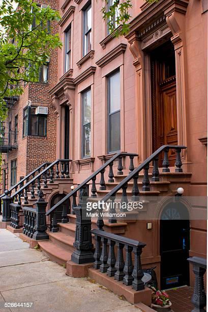 Brooklyn brownstones.