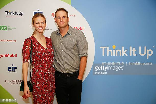 Brooklyn Decker and Andy Roddick at EIF's Think It Up Live Event at David Crockett High School on March 10 2016 in Austin Texas