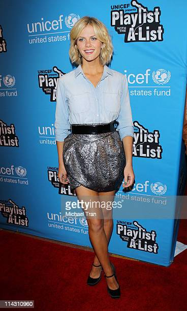 Brooklyn Decker arrives at UNICEF's Child Friendly Schools In Malawi Benefit held at El Rey Theatre on May 17 2011 in Los Angeles California