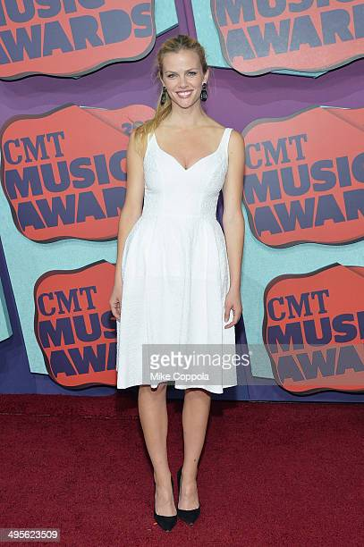 Brooklyn Decker attends the 2014 CMT Music awards at the Bridgestone Arena on June 4 2014 in Nashville Tennessee