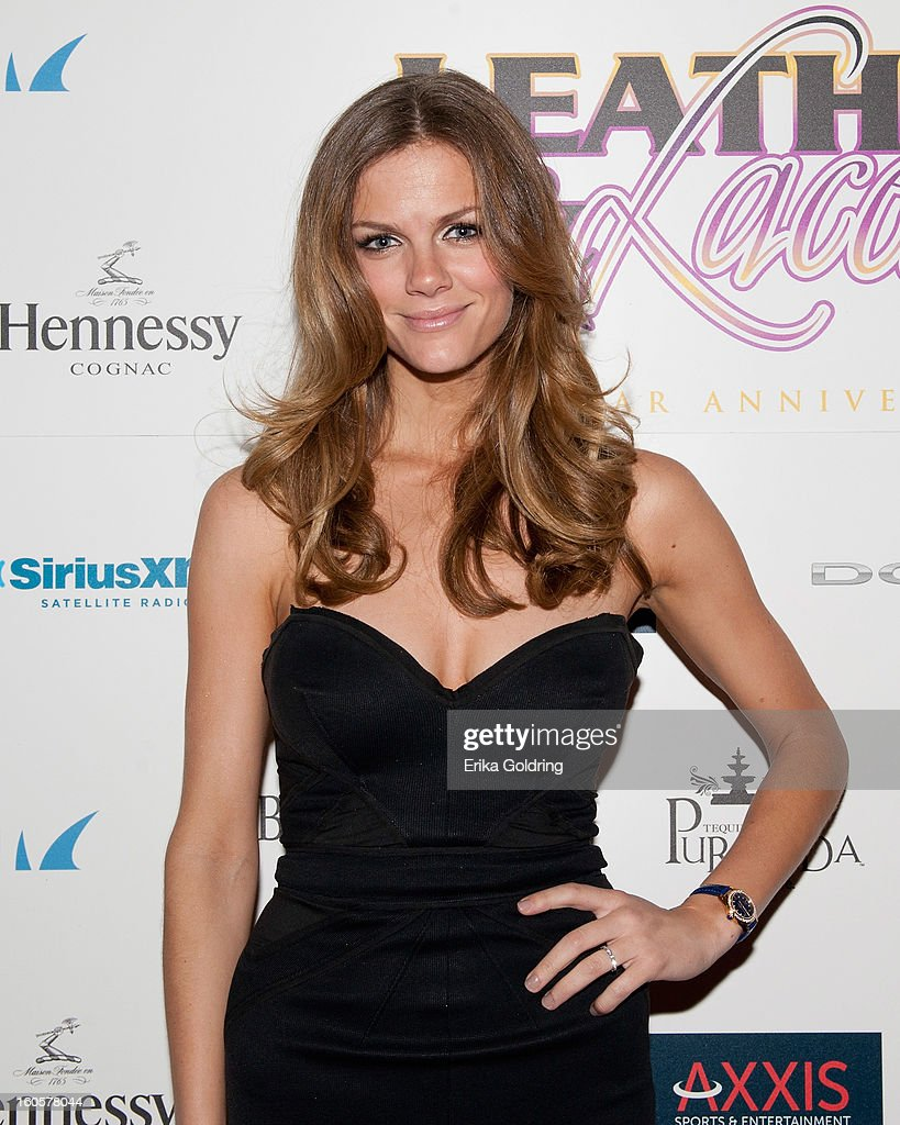 <a gi-track='captionPersonalityLinkClicked' href=/galleries/search?phrase=Brooklyn+Decker&family=editorial&specificpeople=815965 ng-click='$event.stopPropagation()'>Brooklyn Decker</a> attends the Tenth Annual Leather & Laces Super Bowl Party on February 2, 2013 in New Orleans, Louisiana.