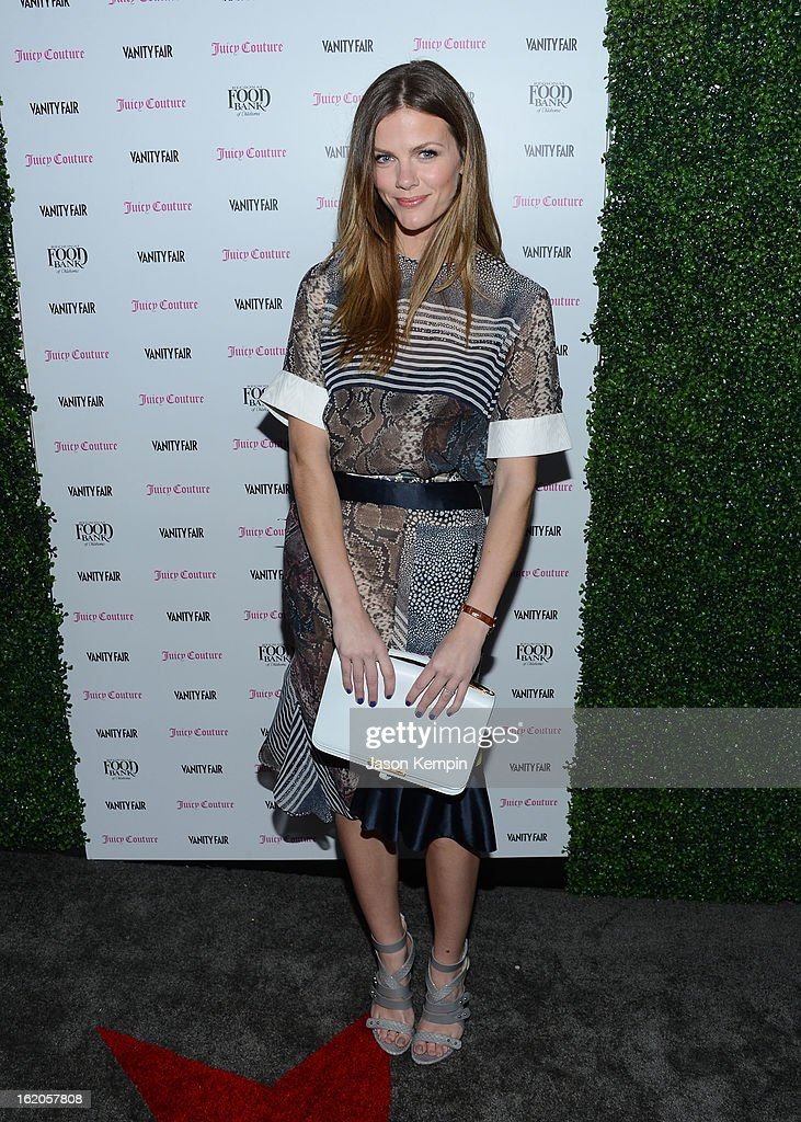 Brooklyn Decker attends the Vanity Fair And Juicy Couture Celebration Of The 2013 Vanities Calendar With Olivia Munn at Chateau Marmont on February 18, 2013 in Los Angeles, California.