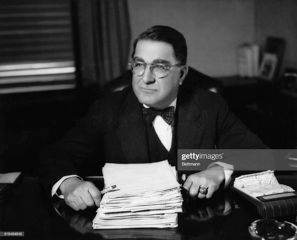 Brooklyn Dodger's general manager Branch Rickey in his office.
