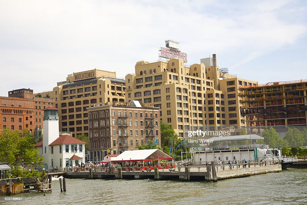 Brooklyn Heights pier and historic buildings