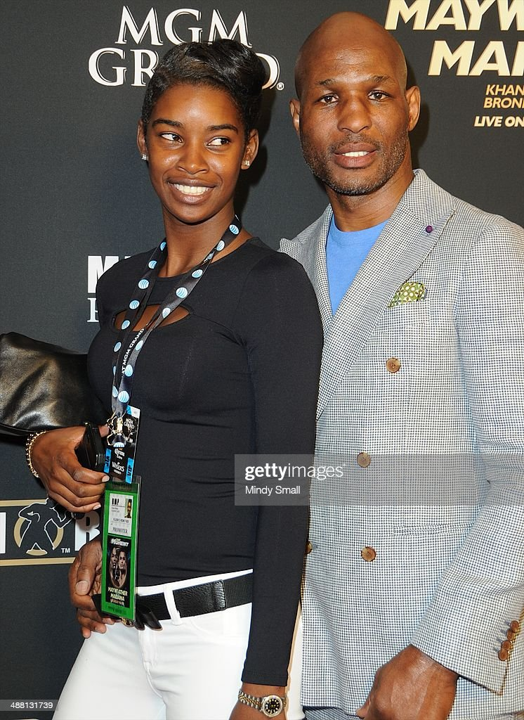 Brooklyn Hopkins and Bernard Hopkins attend the Mayweather Vs. Maidana Pre-Fight Party Presented By Showtime at MGM Garden Arena on May 3, 2014 in Las Vegas, Nevada.