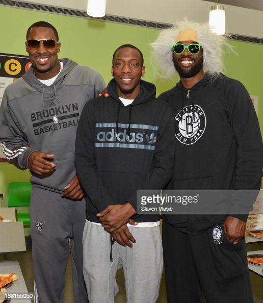 Brooklyn Nets' Andray Blatche Tyshawn Taylor and Reggie Evans host a Halloween Monster Mash for 50 kids at The Brooklyn Children's Museum on October...