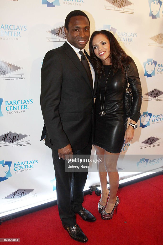 Brooklyn Nets Coach Avery Johnson and Cassandra Johnson attend the grand opening of the 40/40 Club at Barclays Center on September 27 2012 in the...