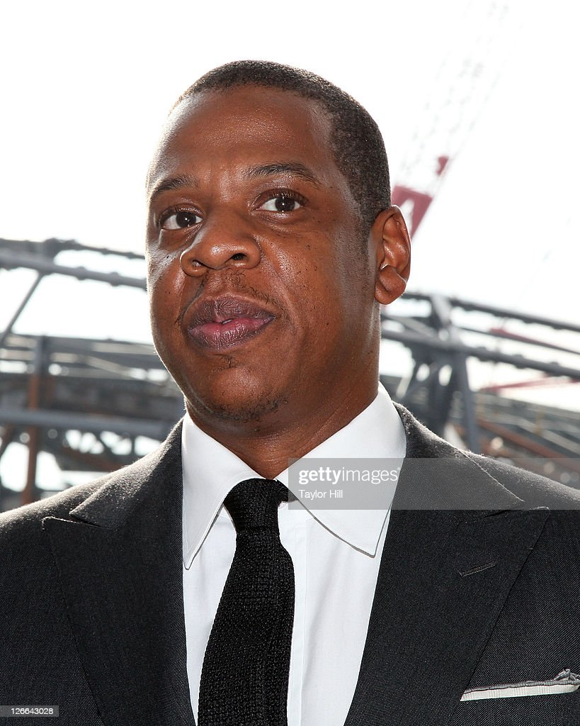 Brooklyn Nets co-owner Shawn Carter a.k.a. <a gi-track='captionPersonalityLinkClicked' href=/galleries/search?phrase=Jay-Z&family=editorial&specificpeople=201664 ng-click='$event.stopPropagation()'>Jay-Z</a> attends the Barclays Center press conference at Atlantic Terminal on September 26, 2011 in the Brooklyn borough of New York City.