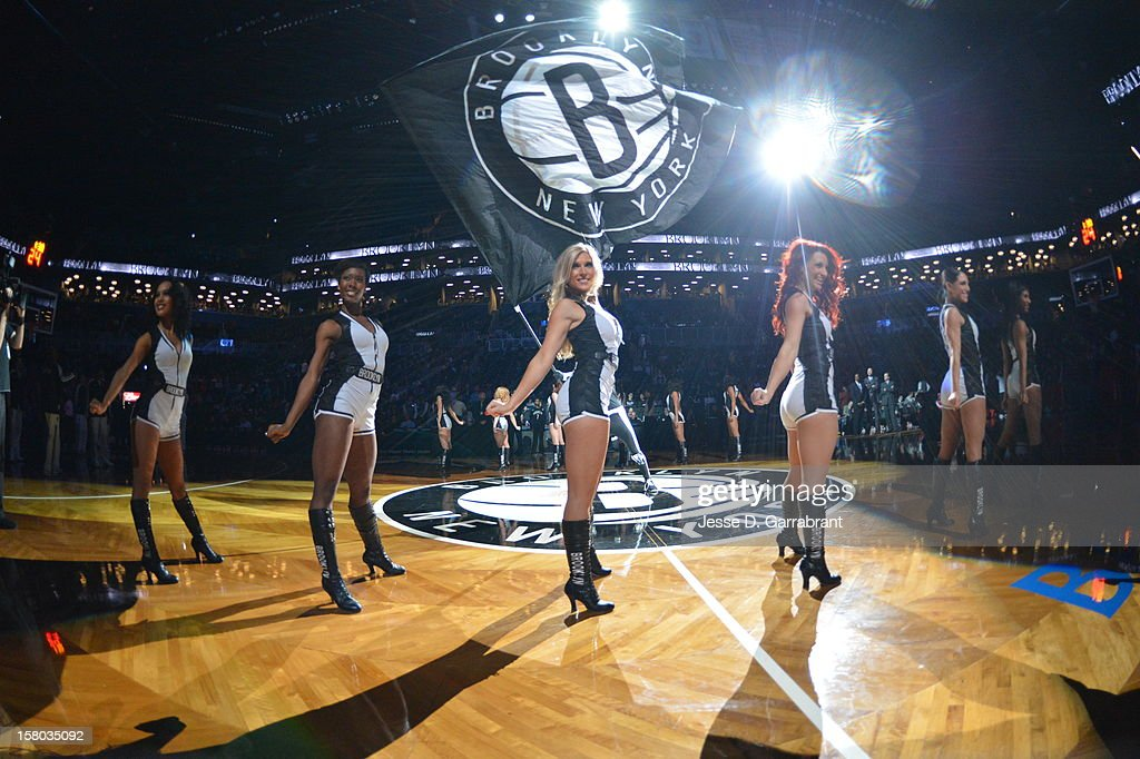 Brooklyn Nets dancers perform during the game against the Milwaukee Bucks at the Barclays Center on December 9, 2012 in Brooklyn, New York.