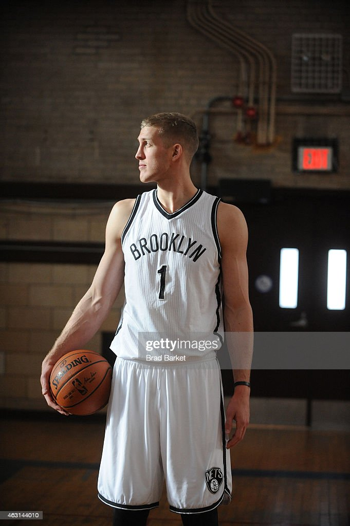 Brooklyn Nets forward/center Mason Plumlee takes the court at the American Express PIVOT Shoot in New York at Lehman College on January 29, 2015 in New York City.