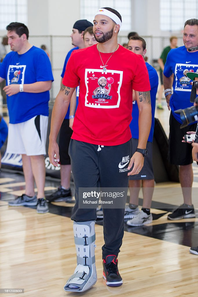 Brooklyn Nets player Deron Williams attends Dodge Barrage 2013 at Pier 36 on September 19, 2013 in New York City.