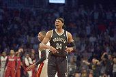 Brooklyn Nets small forward Paul Pierce at Brooklyn Nets vs Miami Heat @ Barclays Center