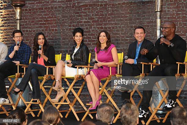 NINE 'Brooklyn NineNine TV Academy 'STEAK OUT' Block Party Pictured Andy Samberg Melissa Fumero Stephanie Beatriz Chelsea Peretti Joe Lo Truglio...