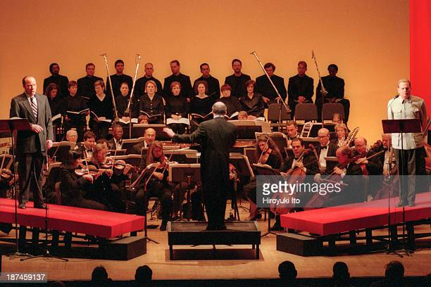 Brooklyn Philharmonic Orchestra led by Robert Spano performing John Adams's 'Nixon in China' at Brooklyn Academy of Music on Friday night December 3...