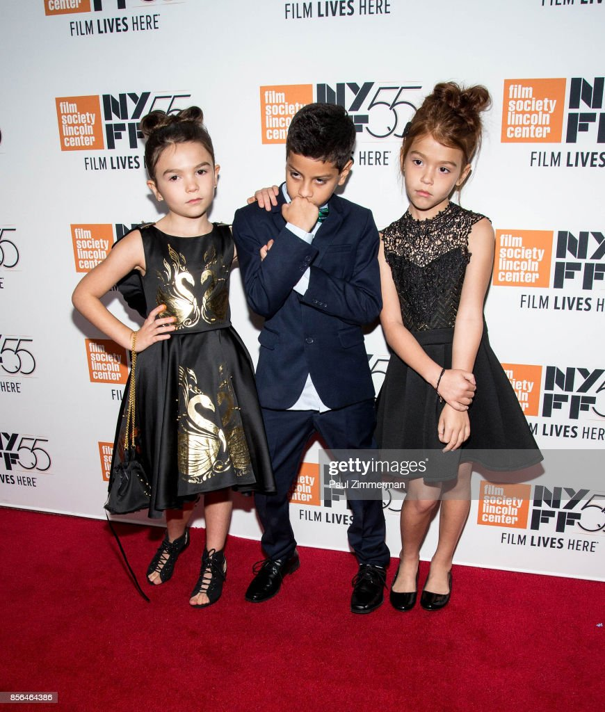Brooklyn Prince, Christopher Rivera and Valeria Cotto attend the 55th New York Film Festival - 'The Florida Project' at Alice Tully Hall on October 1, 2017 in New York City.