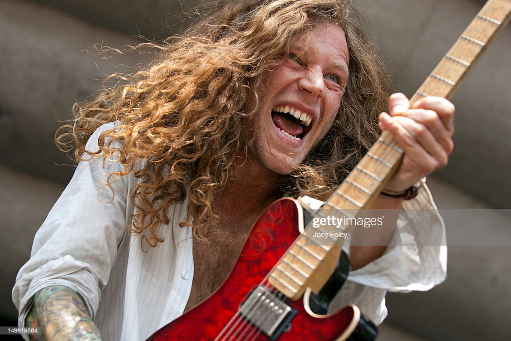 Brooks Betts of Mayday Parade performs onstage during the 2012 Vans Warped Tour at the Riverbend Music Center on July 31, 2012 in Cincinnati, Ohio.