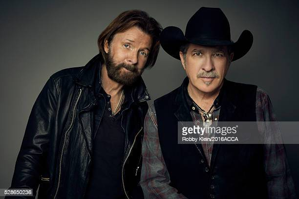 Brooks Dunn pose for a portrait at the 2016 American Country Countdown Awards Peoplecom on May 1 2016 in Inglewood California