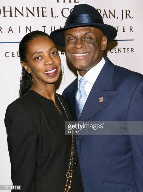 Brooks Jackson and Michael Colyar during Johnnie L Cochran Jr Brain Tumor Center Opening Gala Red Carpet at The Beverly Wilshire Hotel in Beverly...
