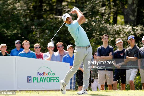 Brooks Koepka of the United States during the final round of the Dell Technologies Championship on September 4 at TPC Boston in Norton Massachusetts