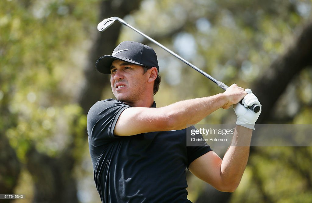 Brooks Koepka of the United States hits his tee shot on the tenth hole during the round of 8 in the World Golf Championships-Dell Match Play at the Austin Country Club on March 26, 2016 in Austin, Texas.