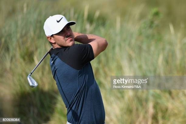 Brooks Koepka of the United States in action during the third round of the 146th Open Championship at Royal Birkdale on July 22 2017 in Southport...