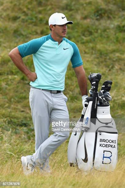Brooks Koepka of the United States looks on during the final round of the 146th Open Championship at Royal Birkdale on July 23 2017 in Southport...