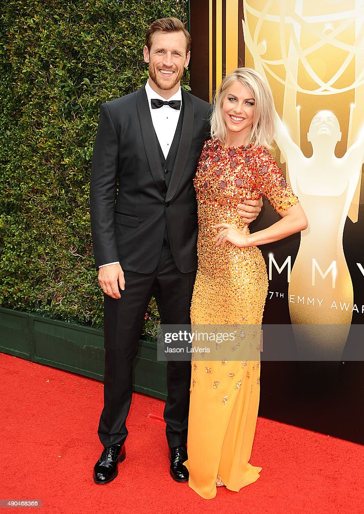 Brooks Laich and Julianne Hough attend the 2015 Creative Arts Emmy Awards at Microsoft Theater on September 12 2015 in Los Angeles California