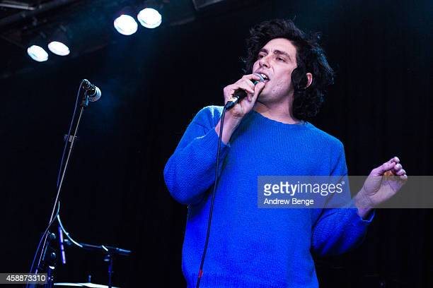 Brooks Nielsen of The Growlers performs on stage at Belgrave Music Hall on November 12 2014 in Leeds United Kingdom
