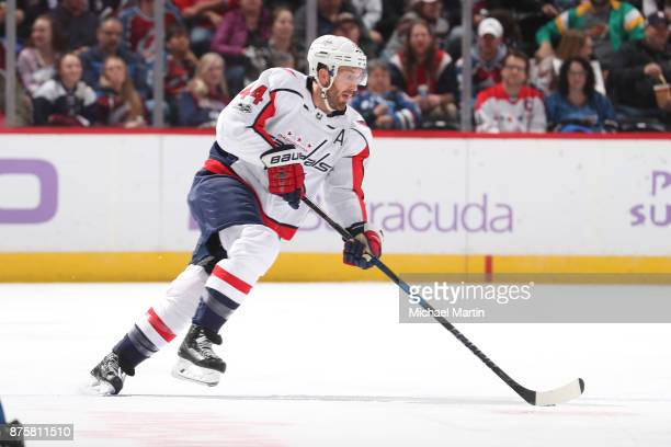 Brooks Orpik of the Washington Capitals skates against the Colorado Avalanche at the Pepsi Center on November 16 2017 in Denver Colorado The...
