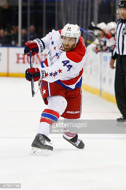 Brooks Orpik of the Washington Capitals skates against the New York Rangers in Game One of the Eastern Conference Semifinals during the 2015 NHL...