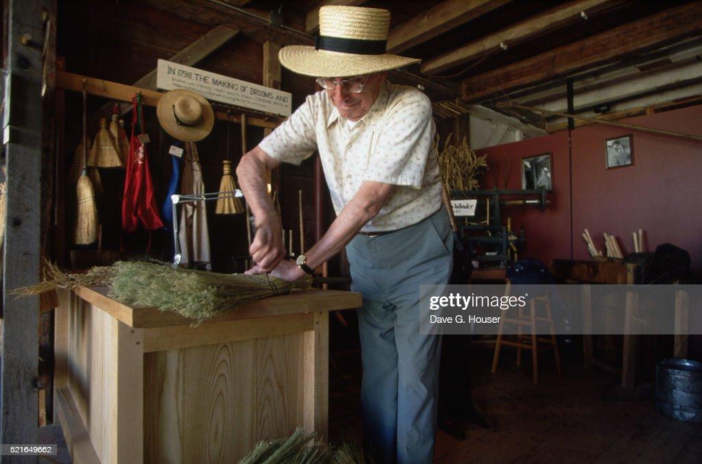 Broom Maker in Shaker Village