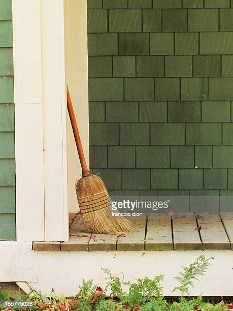Broom on porch