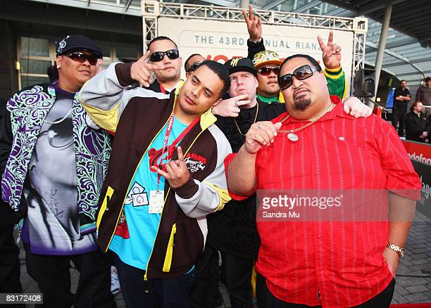 Brotha D and members of Horsemen Family arrive at the Vodafone New Zealand Music Awards 2008 at Vector Arena on October 8 2008 in Auckland New...